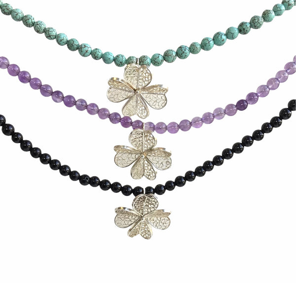 Filigree Clover Necklace - AG Agora Jewellery London