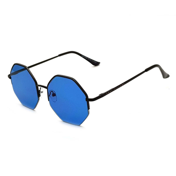 'Hector' Hex Black With Blue Lens