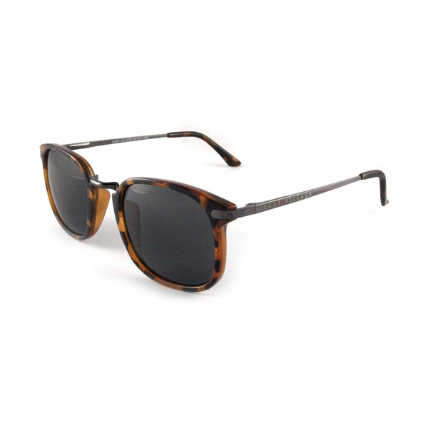 Square 'Joe' Metal Bridge Tortoiseshell Sunglasses