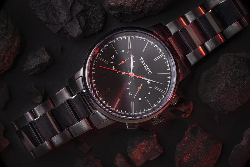 Black/Red Steel - 42mm