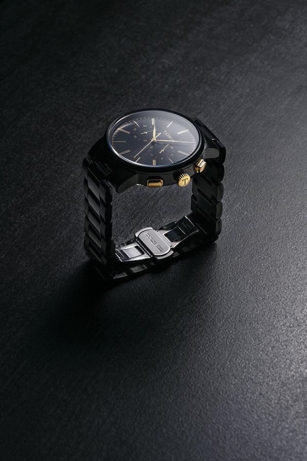 Black/Gold Steel - 42mm