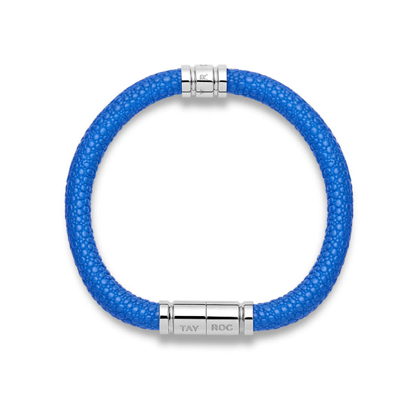 Blue Leather Bracelet - One Size - Tayroc