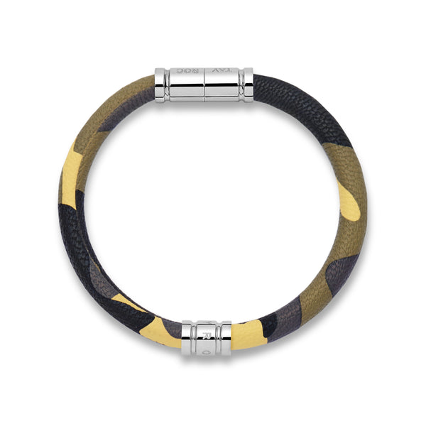 Camo Leather Bracelet - One Size - Tayroc
