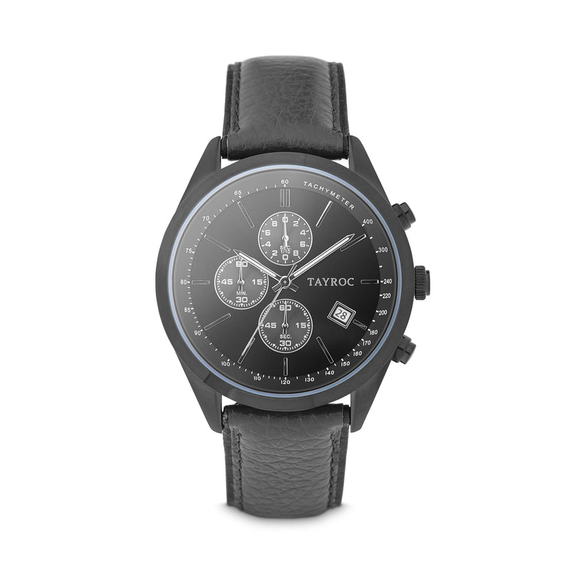 Highlander BLACK/BLACK. A bold and stunning composite of features pulled together to create a truly outstanding timepiece that is versatile and sleek. Style 2 view.