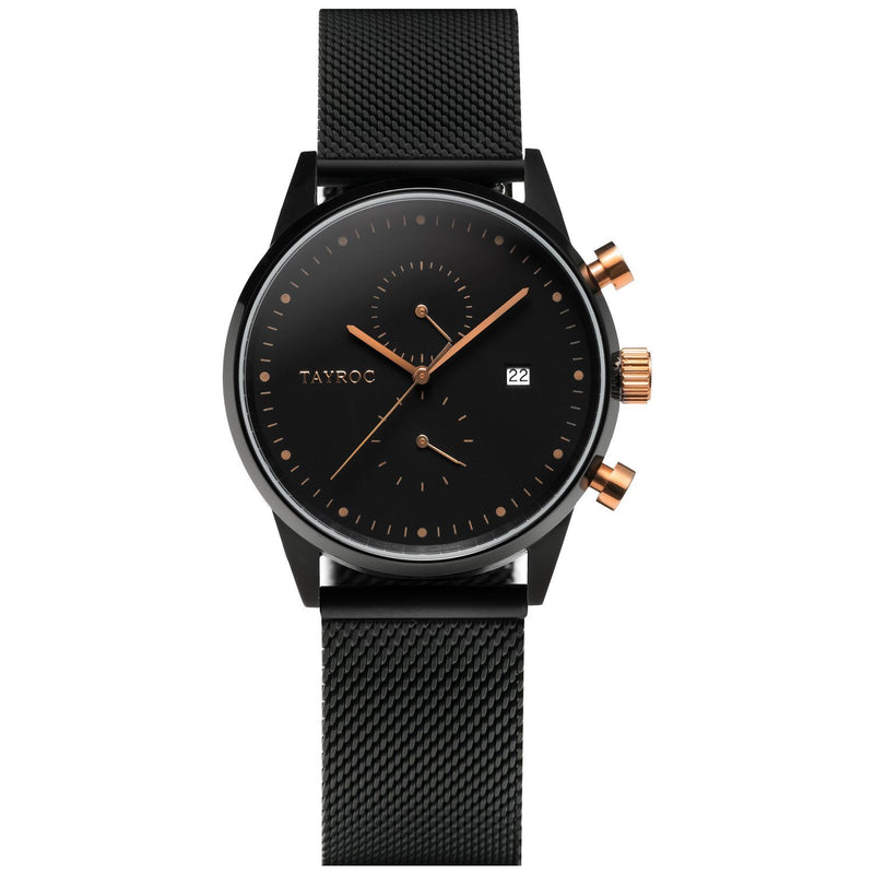 Black and bronze watch, sleek and striking the TXM098 is a part of the Boundless collection by Tayroc.