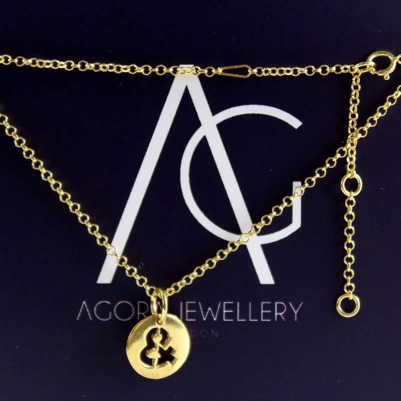 & Sign Necklace - Agora Jewellery London