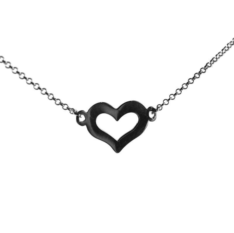 London Gold Heart Necklace - Agora Jewellery London