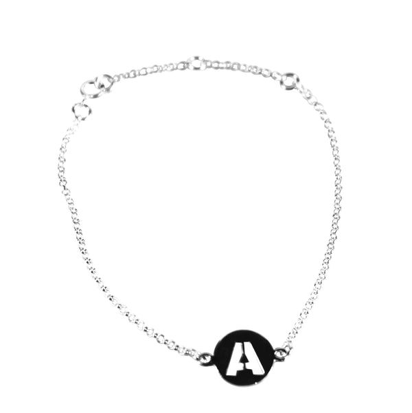 Silver Initials Bracelets - Agora Jewellery London