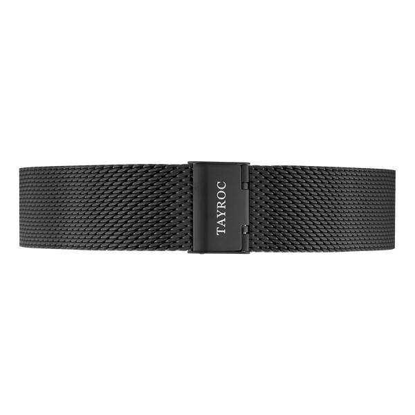 Matte Black Meshband Strap 22mm