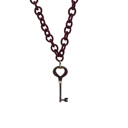 Sterling Silver Love Key Necklace