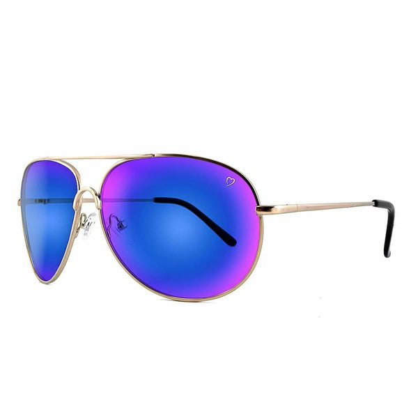 Ruby Rocks Classic 'Casablanca' Aviator in shiny Gold
