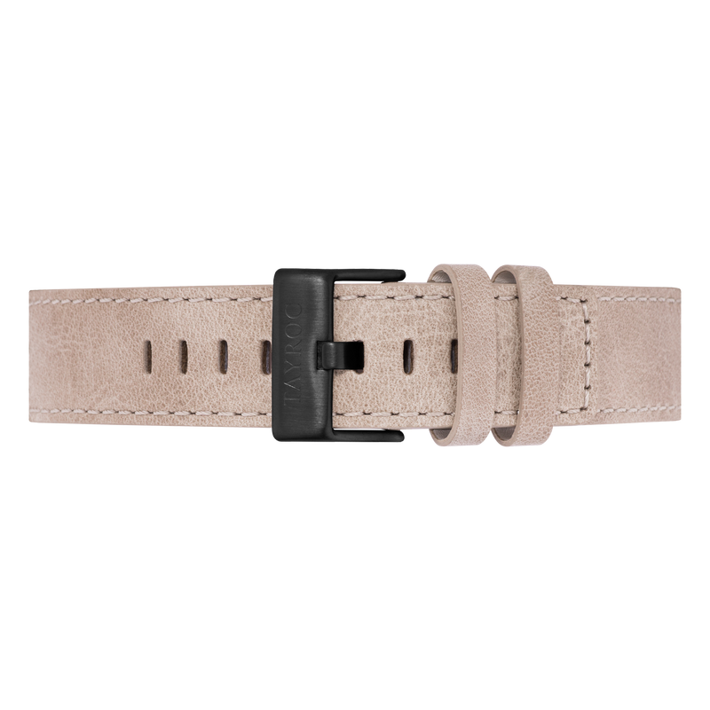 Sand Leather Strap/Black Buckle