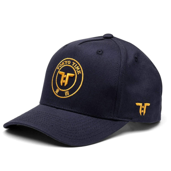 Tokyo Time Core Cap - Navy Blue/Yellow Adult Snapback Baseball Cap