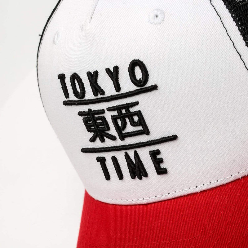 Tokyo Time Heritage Snapback Baseball Cap Red/White/Black Forth Image