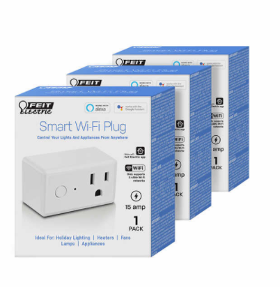 Feit Electric Wi-Fi Smart Plug, 3-pack