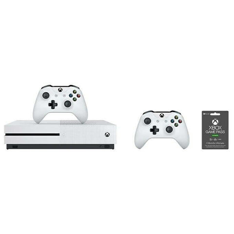 XBOX One S 1TB Bundle with 2 Wireless Controllers & 3 Month Game Pass Ultimate