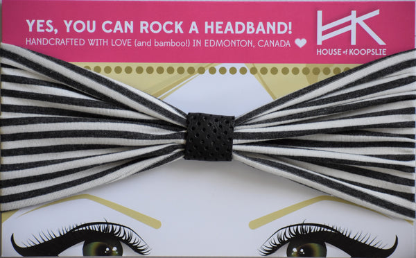 Headband - Stripes with Perforated Black Loop