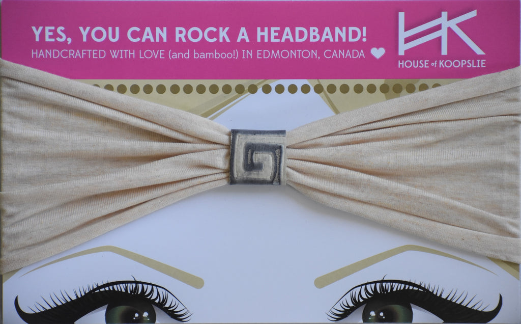 Headband - Heather Cream With Greek Goddess Loop