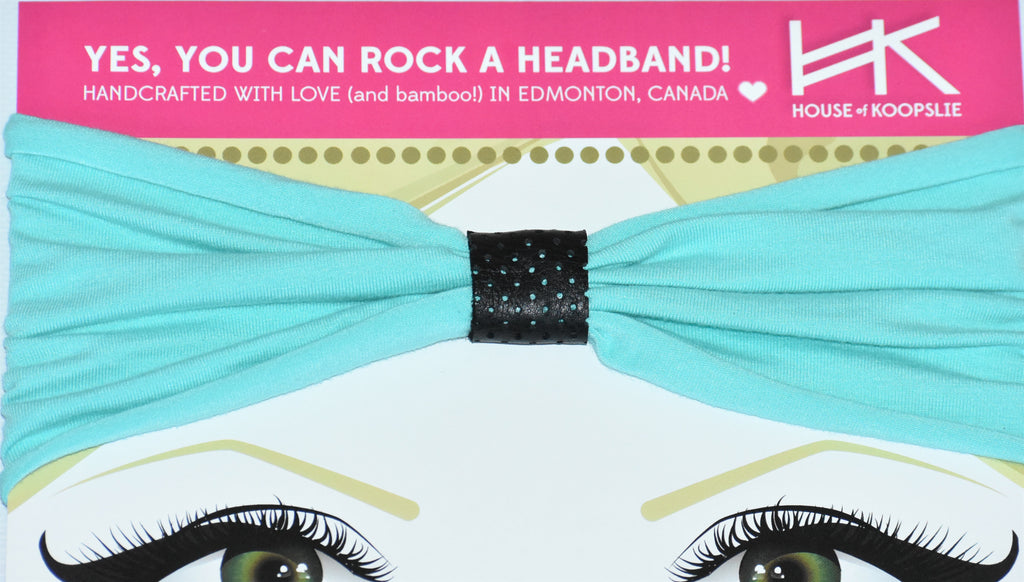 Headband - Tropical Sea with Black Perforated Loop