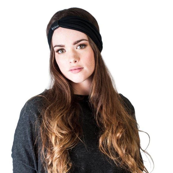 Headband - Black With Perforated Black Loop