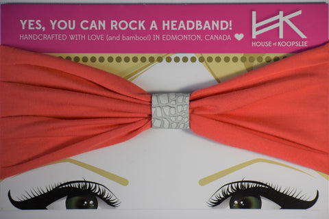 Headband - Hot Coral With Python Loop