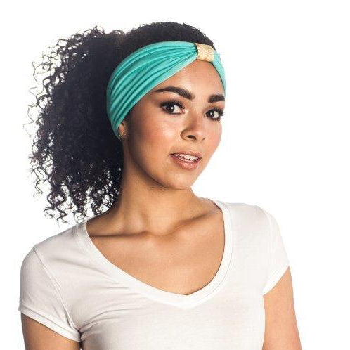 Headband - seafoam with gold python loop