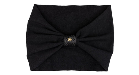 Headband (fleece-lined) - black with perforated black