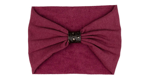 Headband (fleece-lined) - maroon
