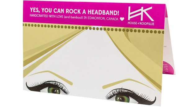 Headband - White With Lines and Animal Print Loop
