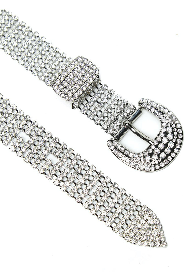 Thick Belt with crystal embellishment