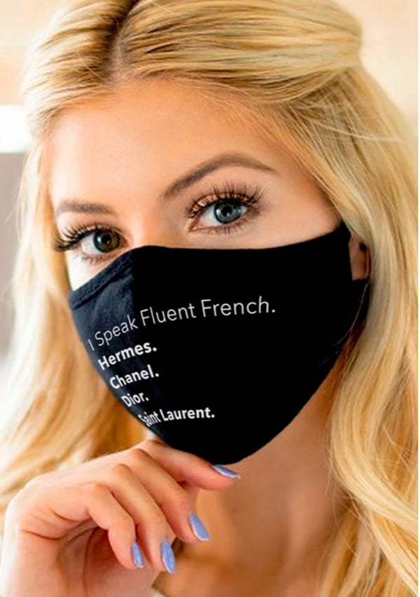 Exclusive from LA I speak French face mask