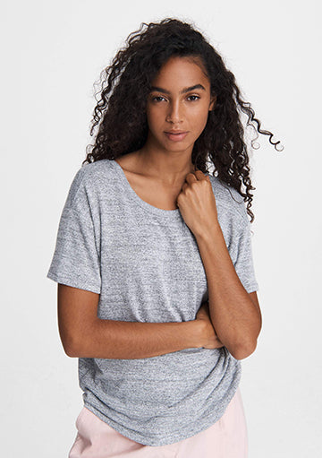 Rag and Bone Heather grey short sleeve drape back tshirt