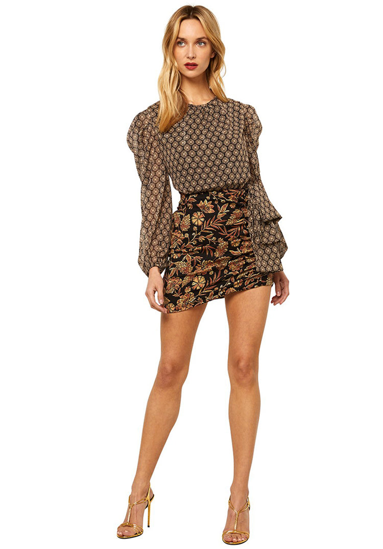 Misa Amber mini long sleeve skirt