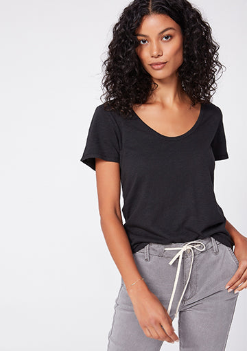 Frame mid rise scoop neck tshirt