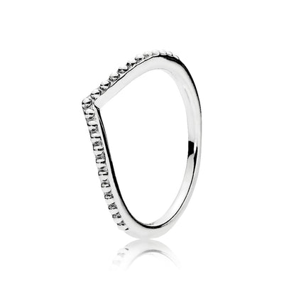 Beaded Wishbone Ring - Pandora Jewelry Las Vegas