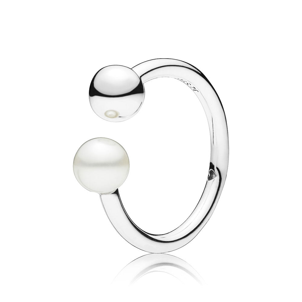 Bead and Freshwater Pearl Ring - Pandora Jewelry Las Vegas