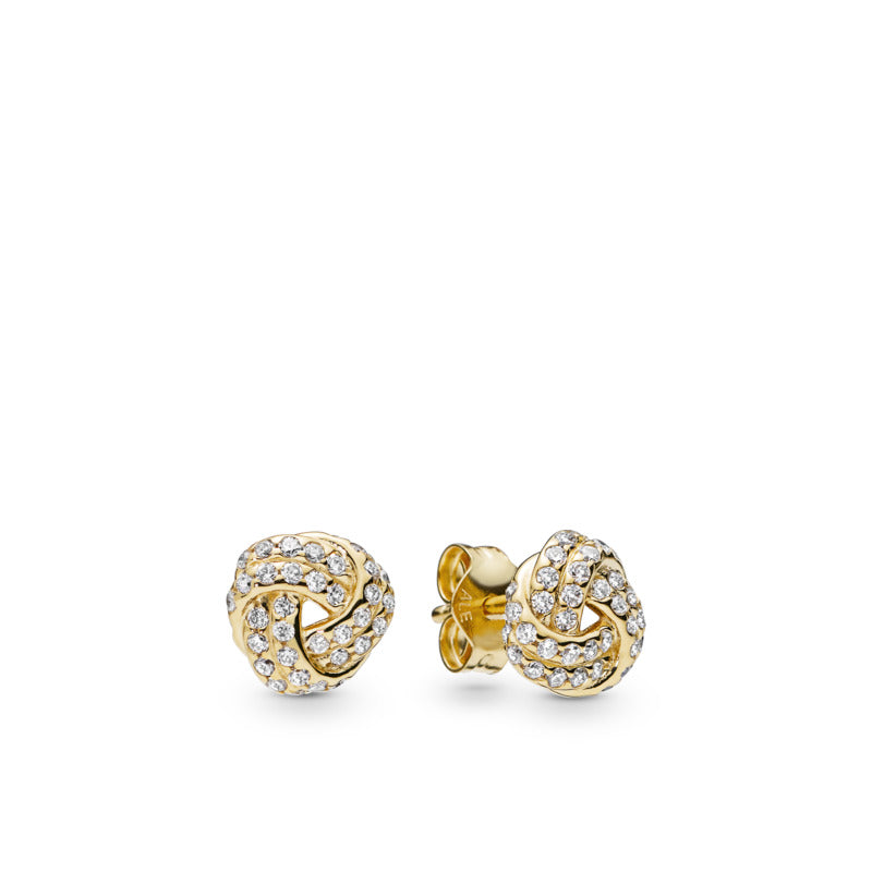 Sparkling Love Knot Pandora Shine Stud Earrings - Pandora Jewelry Las Vegas