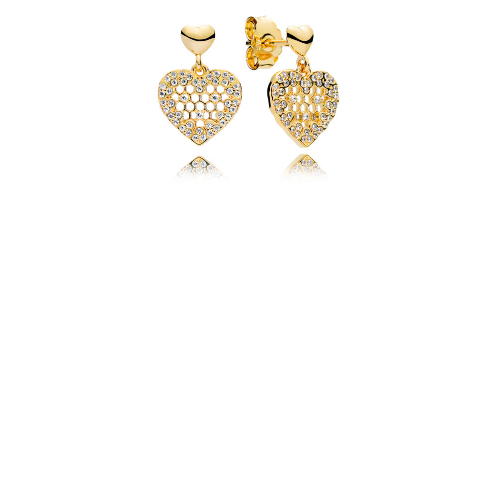 Honeycomb Lace Pandora Shine Dangle Earrings - Pandora Jewelry Las Vegas
