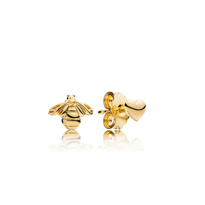 Heart And Bee Pandora Shine Stud Earrings - Pandora Jewelry Las Vegas
