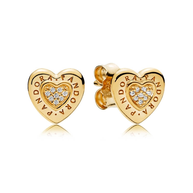 Pandora Signature Heart Pandora Shine Stud Earrings - Earring - Pandora Las Vegas Jewelry