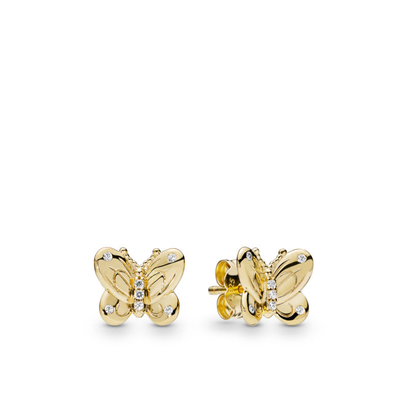 Dazzling Butterflies Pandora Shine Stud Earrings - Pandora Jewelry Las Vegas