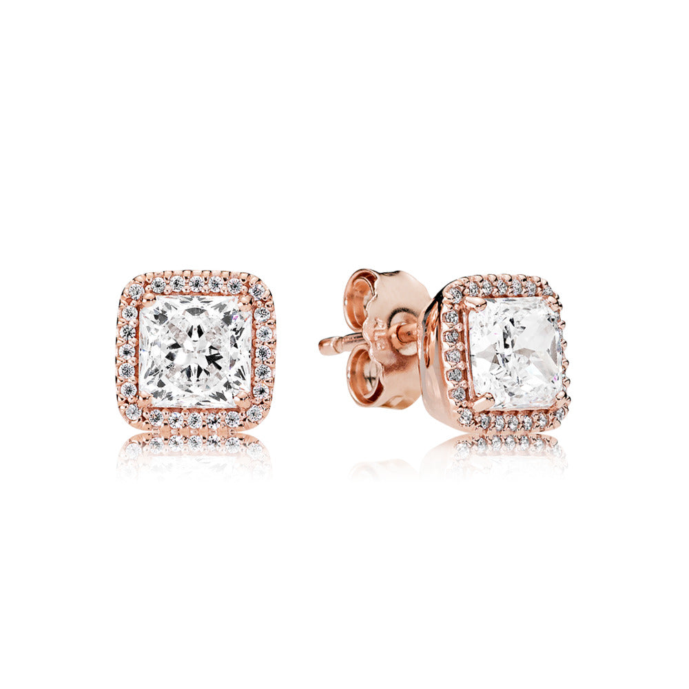 Timeless Elegance Pandora Rose Stud Earrings - Pandora Jewelry Las Vegas