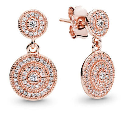 Radiant Elegance Pandora Rose Drop Earrings - Pandora Jewelry Las Vegas