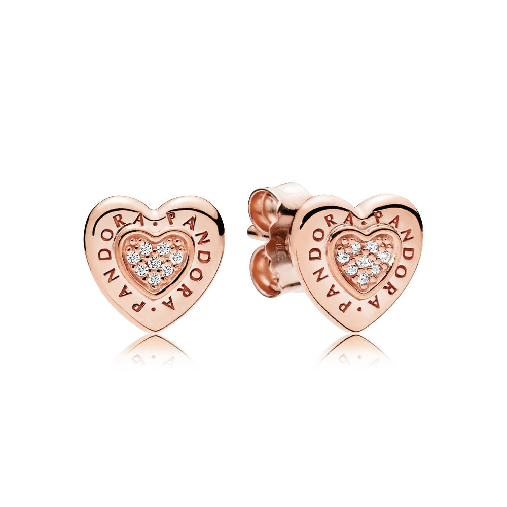 Pandora Signature Heart Pandora Rose Stud Earrings - Earring - Pandora Las Vegas Jewelry