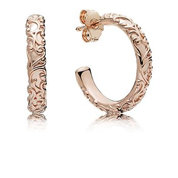 Regal Beauty Pandora Rose Hoop Earrings - Pandora Jewelry Las Vegas