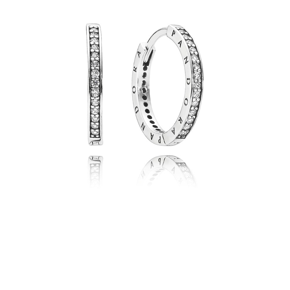 Pandora Signature Hoop Earrings - Pandora Jewelry Las Vegas