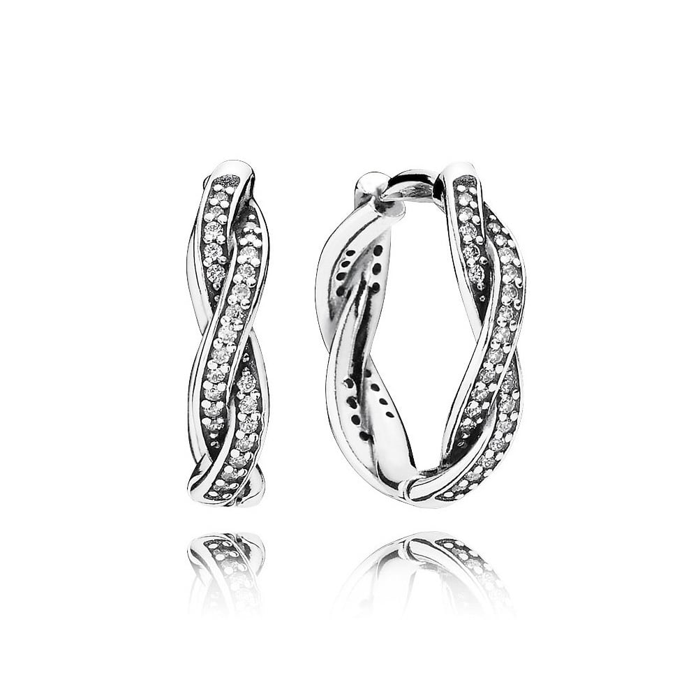 Twist Of Fate Hoop Earrings - Earring - Pandora Las Vegas Jewelry