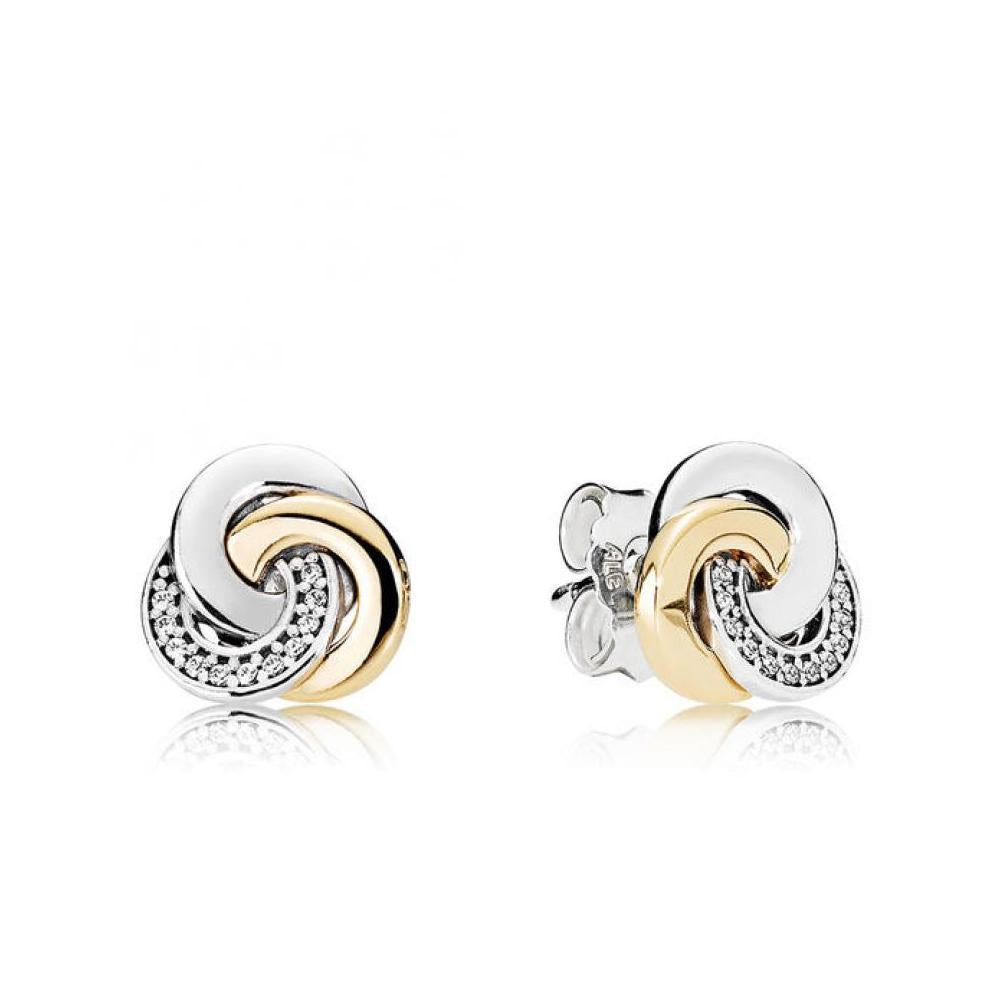 Interlinked Circles Stud Earrings with 14k Gold - Earring - Pandora Las Vegas Jewelry