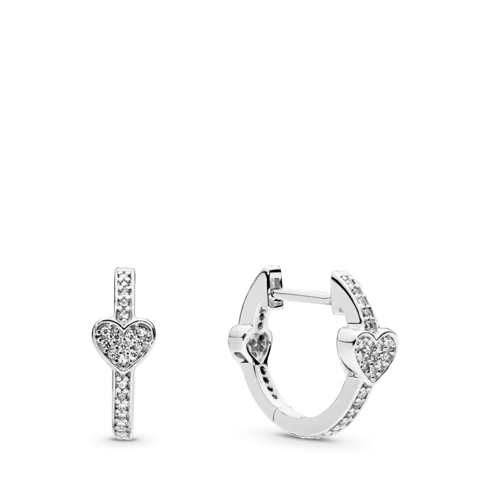 Alluring Hearts Hoop Earrings - Earring - Pandora Las Vegas Jewelry