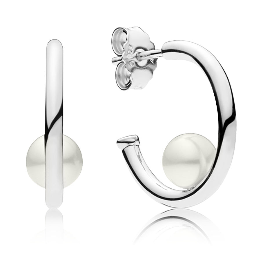 Contemporary Freshwater Cultured Pearl Earrings - Pandora Jewelry Las Vegas